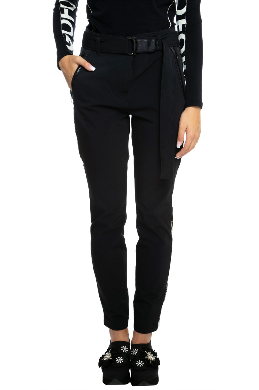 Belted Trouser With Side Stripe Applique