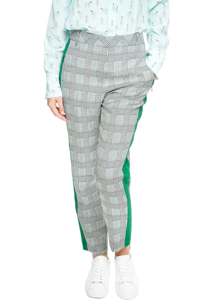 Check Trouser With Side Stripe
