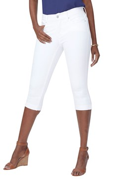 Marilyn Straight Crop Jeans OPTIC WHITE 1