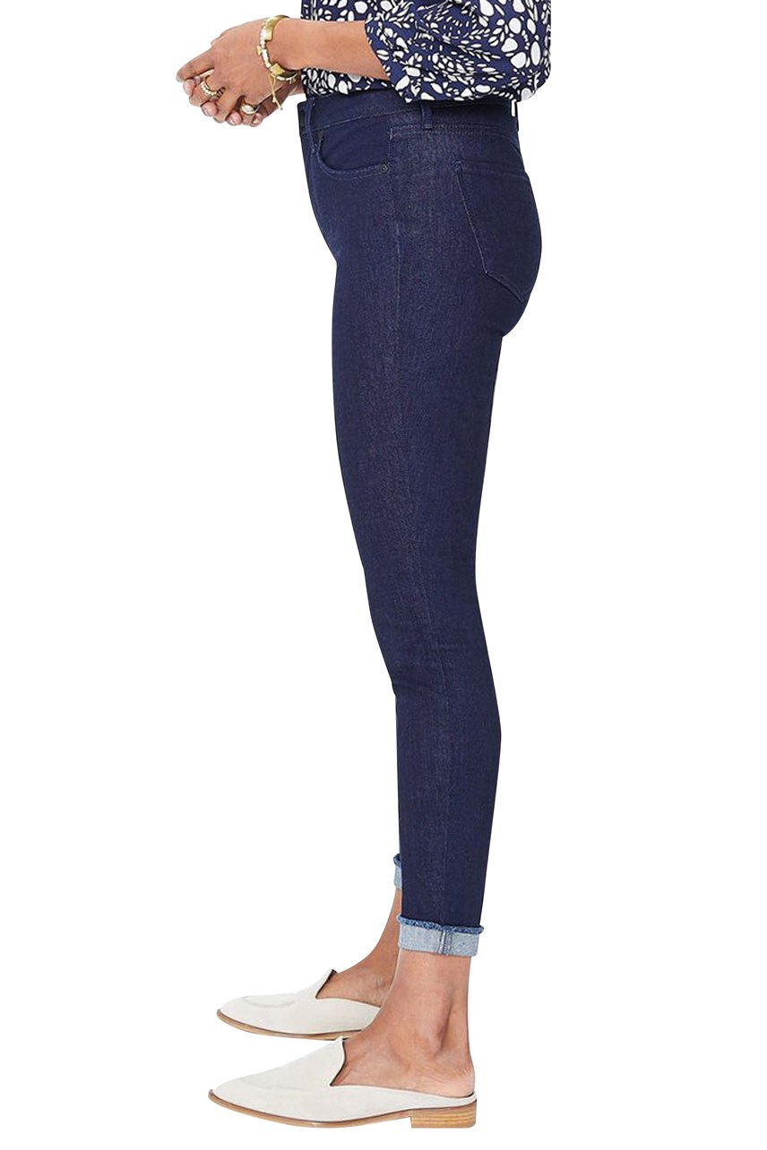 Ami Skinny Ankle Jeans with Raw Cuff