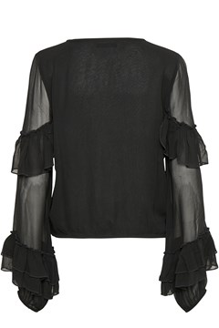 Pears Solid Blouse BLACK 1