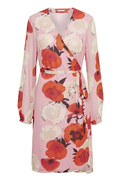 Violetta Wrap Dress PINK ROSES 1