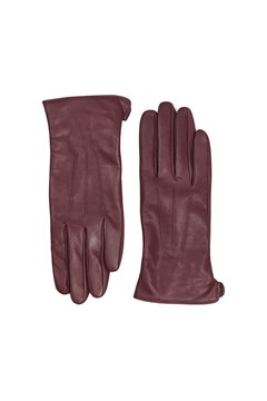 Carianna Leather Gloves BURGUNDY 1