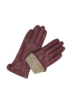 Carianna Leather Gloves - burgundy