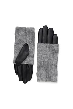 Helly Leather Gloves - grey