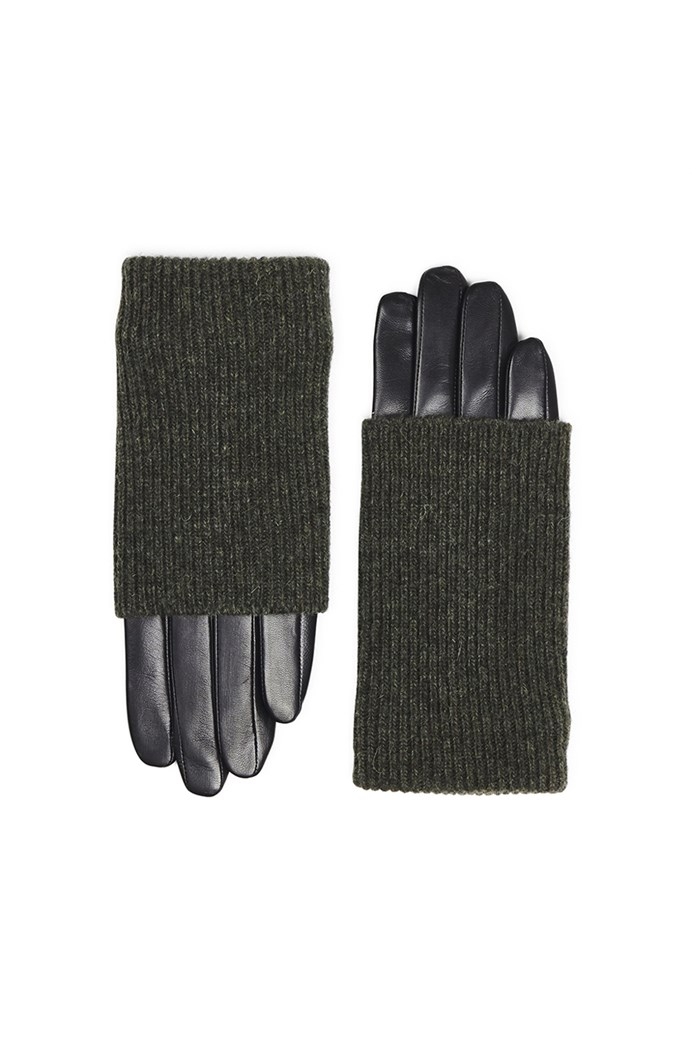 Helly Knit and Leather Gloves