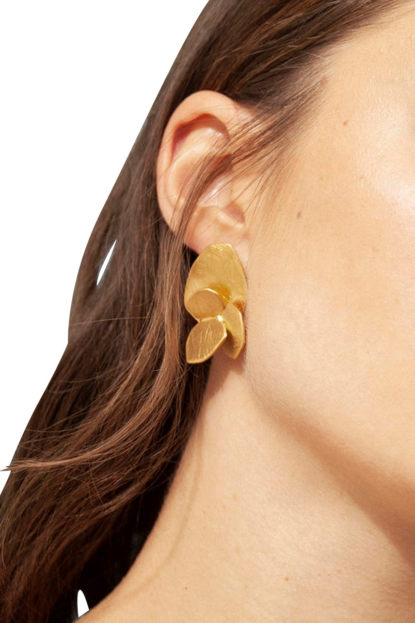 Blossom Four Level Gold Earrings