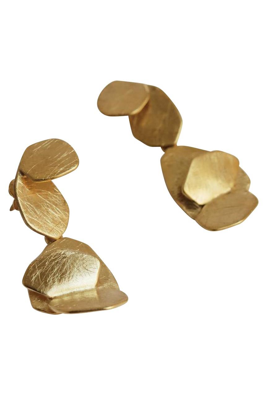 Blossom Five Level Gold Earrings