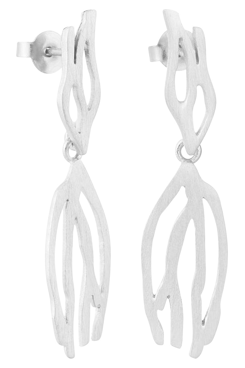 Galera Silver Double Earrings