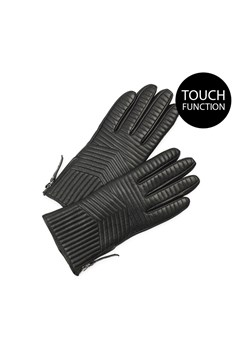 Mabel Touch Function Leather Gloves BLACK 1