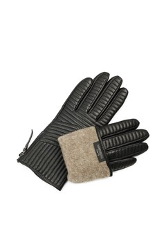 Mabel Touch Function Leather Gloves - black