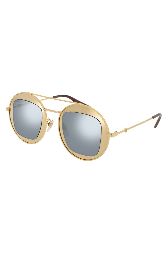 8d61003121 Round-frame Metal Sunglasses - GUCCI - Smith   Caughey s - Smith and ...