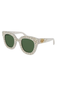 Limited Edition Cat Eye Acetate Sunglasses with Stars WHITE 1