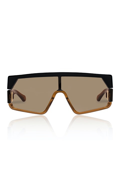 Vorticist Sunglasses - black tan