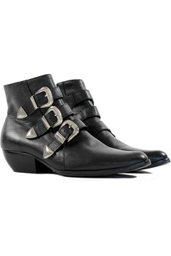 Buckle Boot - black silver