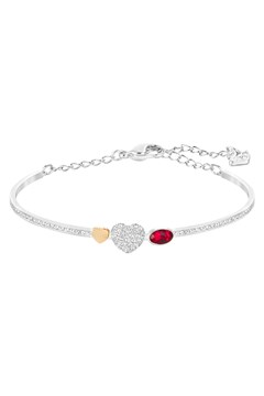 'Duo Heart' Bangle SILVER 1