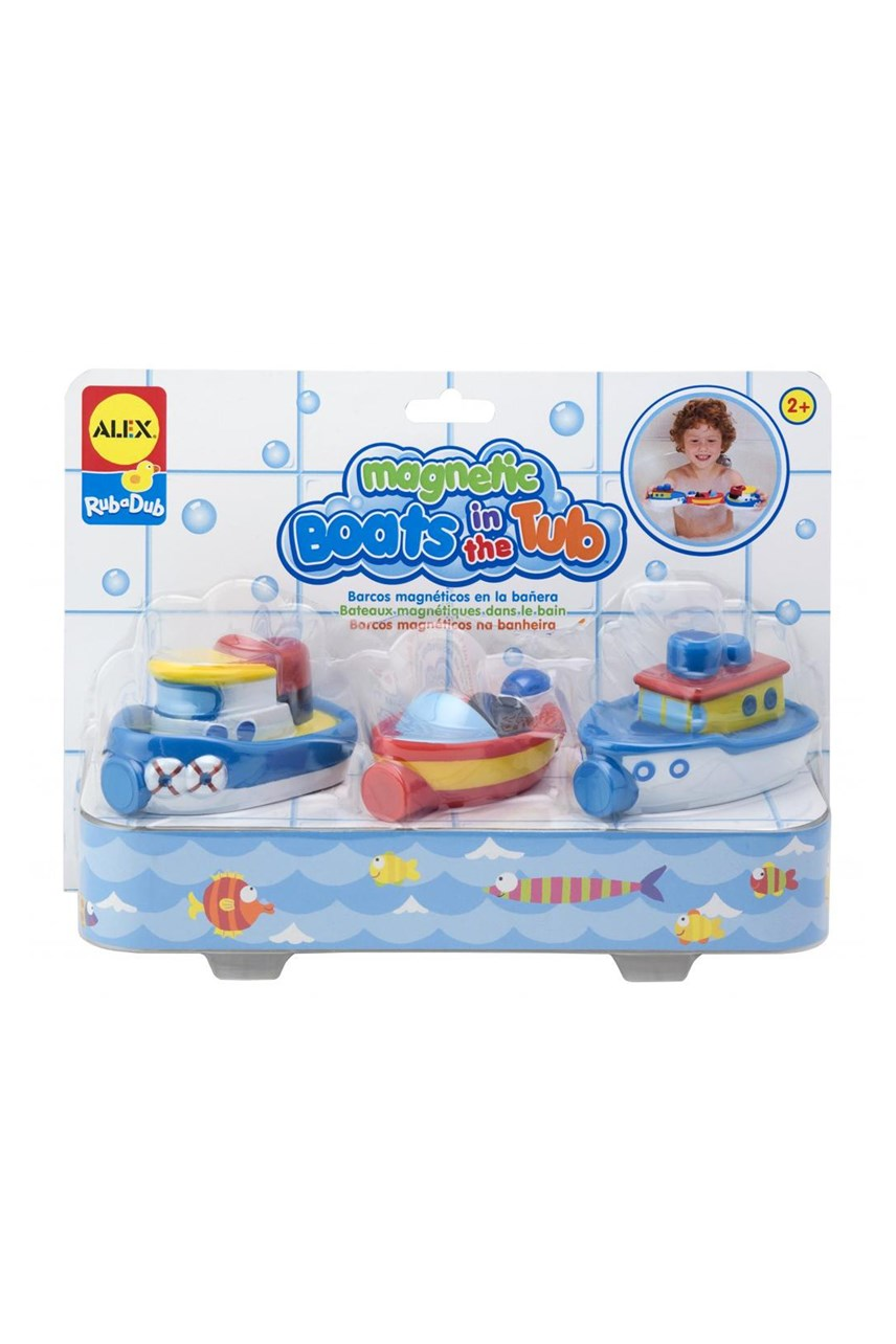 Rub-a-Dub Magnetic Boats in the Tub
