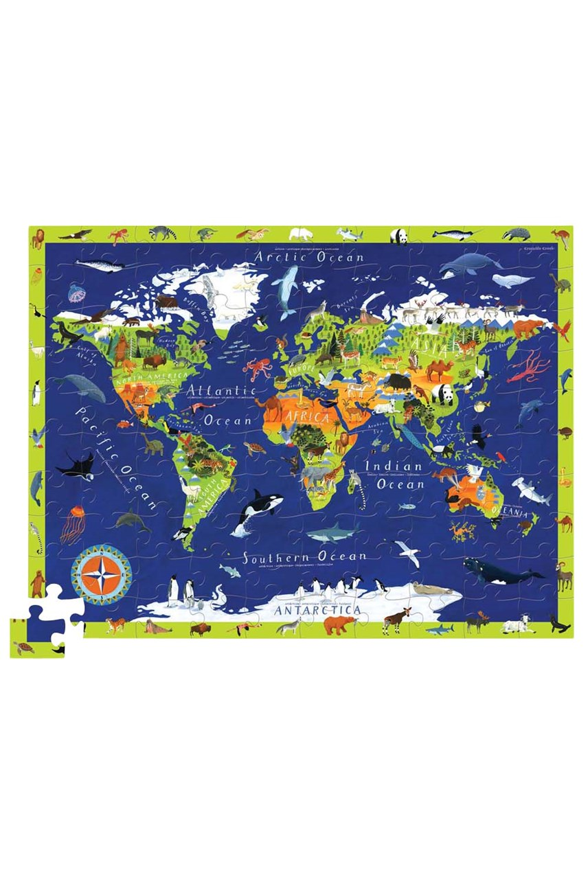 Discover World Animals Puzzle - 100 Piece