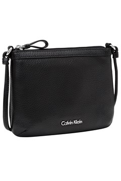 Pebble Leather Crossbody Bag BLACK 1
