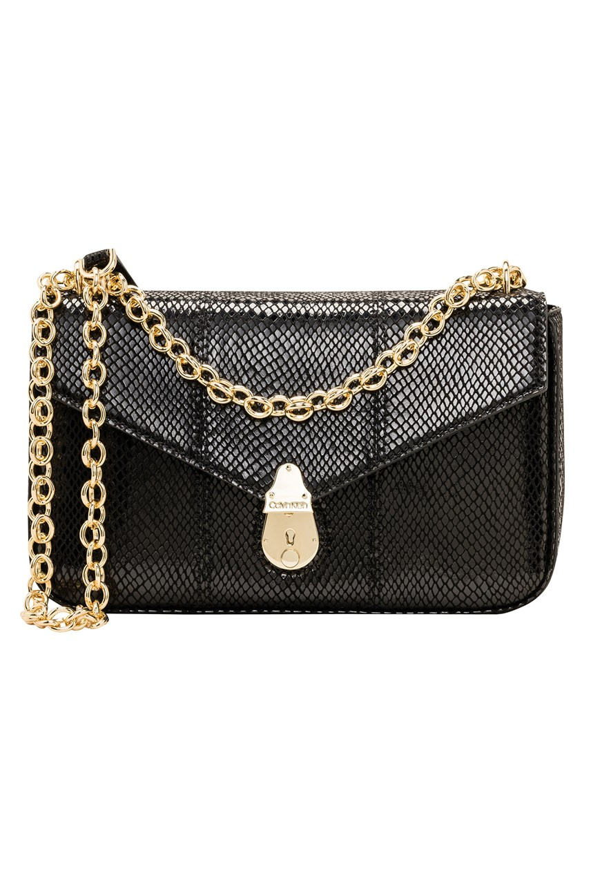 Lock Chain Shoulder Bag