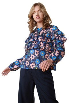 Annabel Top NAVY FLORAL 1
