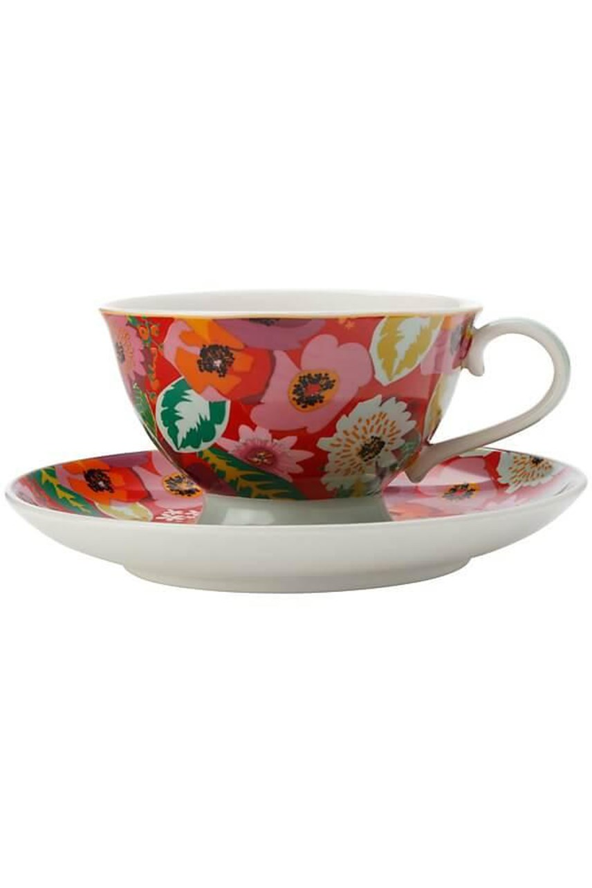 Footed Teacup & Saucer