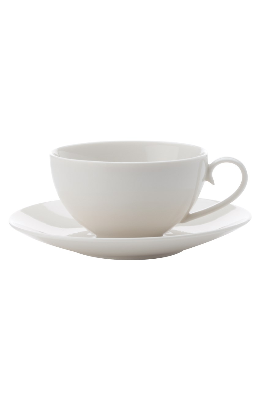 'White Basics' Luxurious Cup & Saucer