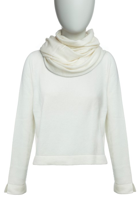 Continuous Neck Scarf - winter white