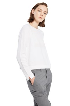 Cropped Line Sweater WINTER WHITE 1