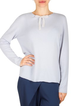 Crew Neck Sweater with Bow Detail MIST 1