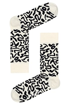 Artsy Sock White/Black 1