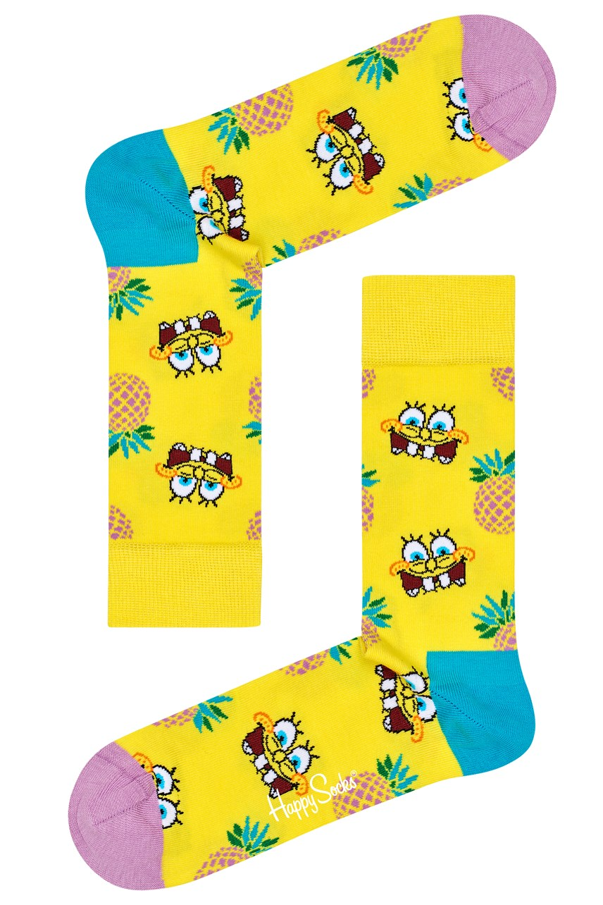 Men's Sponge Bob Fineapple Surprise Sock