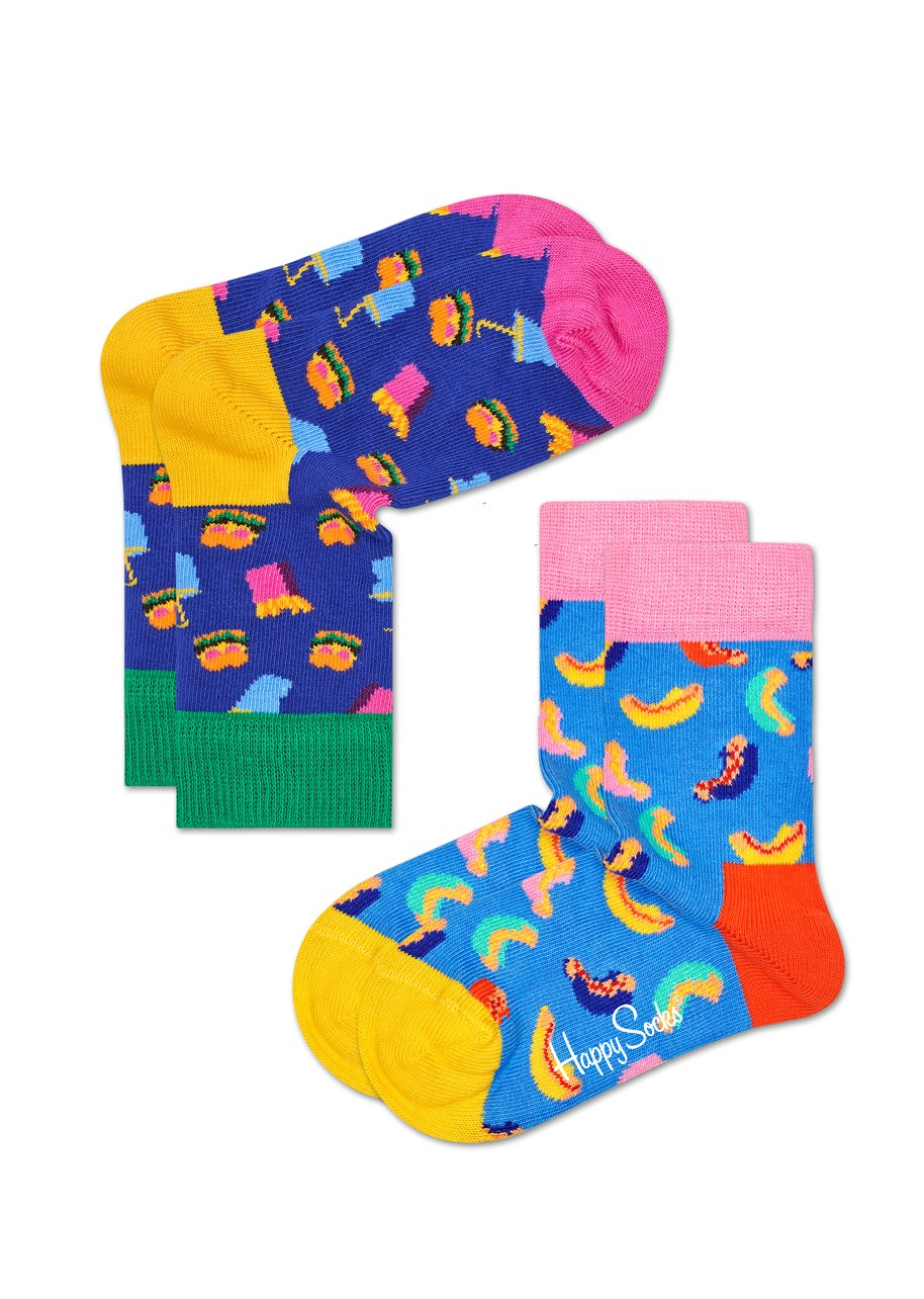 Kids Hamburger Socks - 2 Pack
