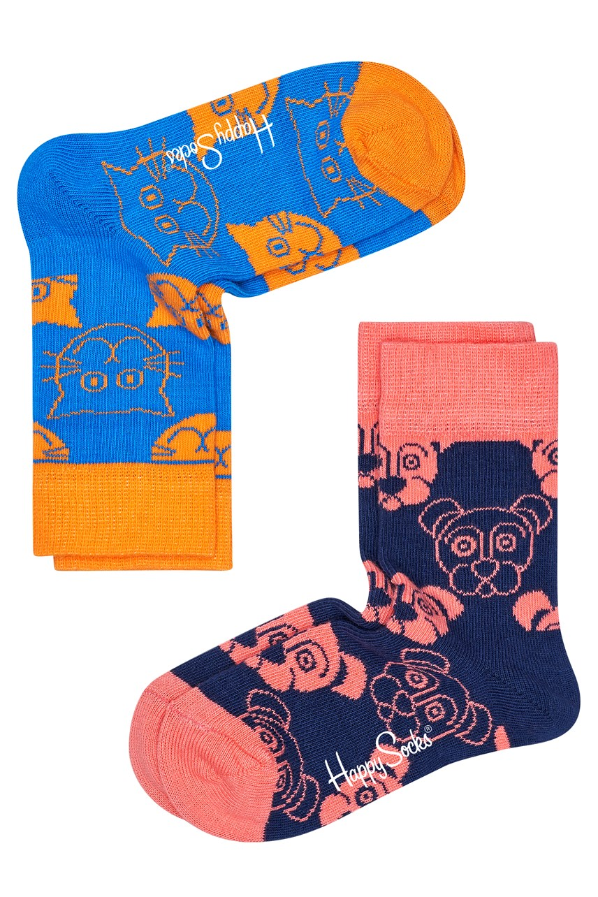 2-Pack Cat Dog Socks