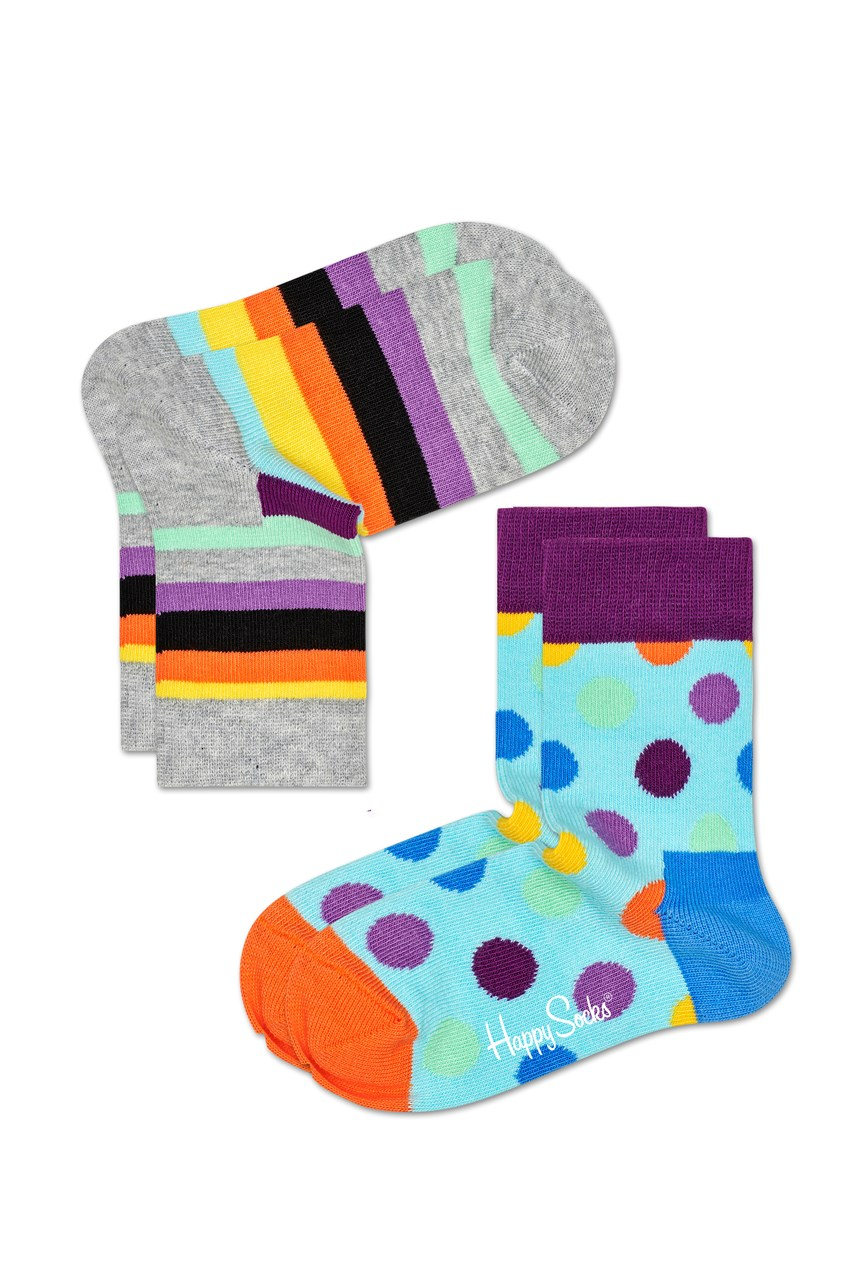 Kids Stripe Socks - 2 Pack