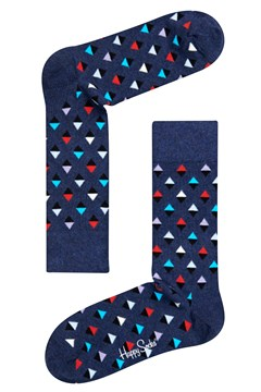 Mini Diamond Sock Navy/Red /White 1