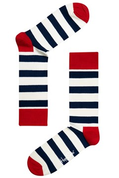 Stripe Sock Navy/White 1