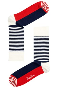Half Stripe Sock Navy/White/Red 1