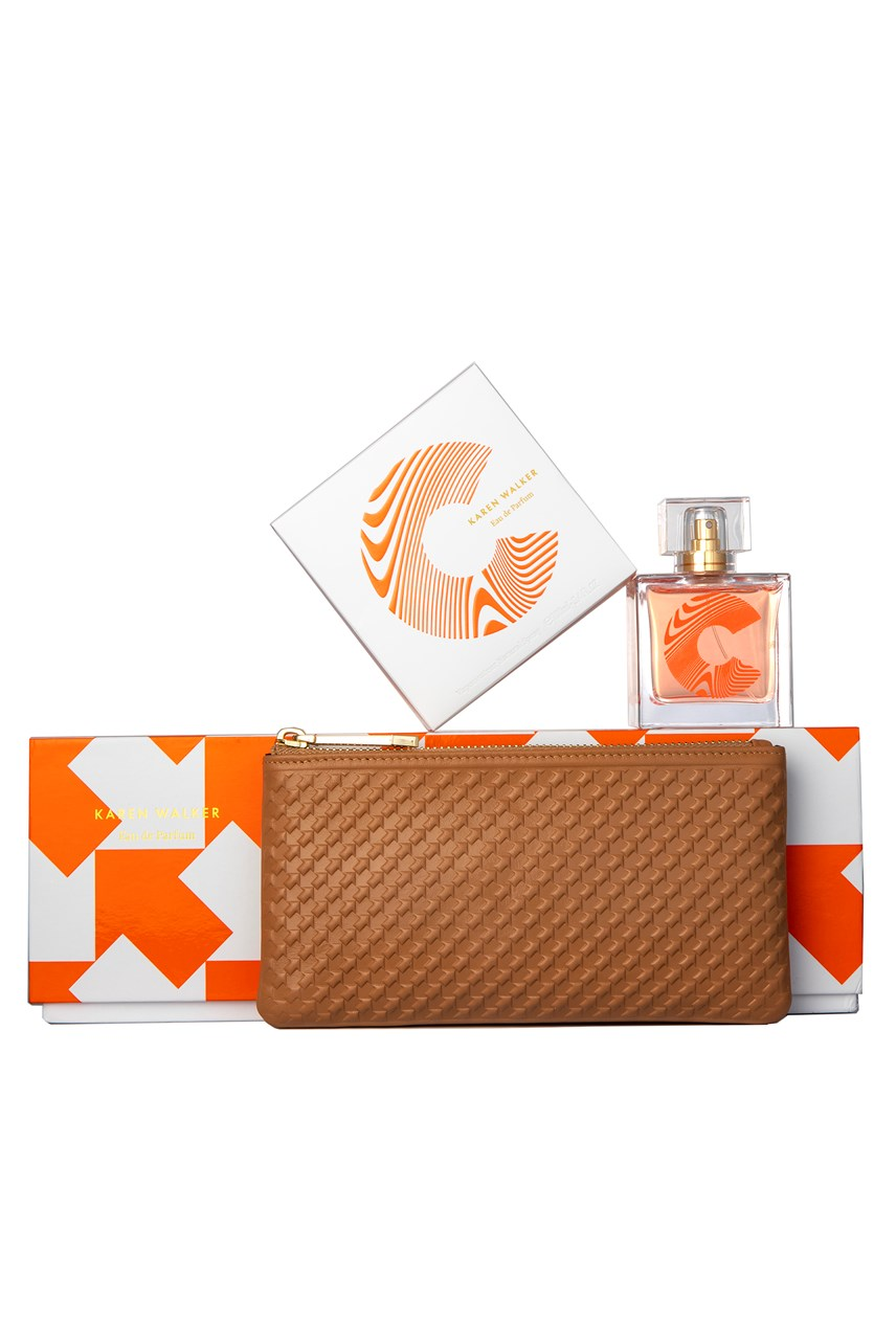 C 100ml Gift Set with Tan Long Purse