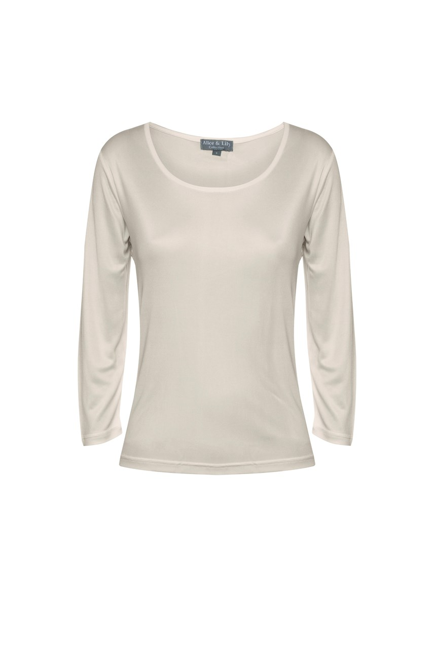 Pure Silk Long Sleeved Top