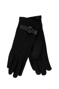 Faux Suede Gloves - black