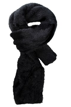Faux Fur Scarf BLACK 1