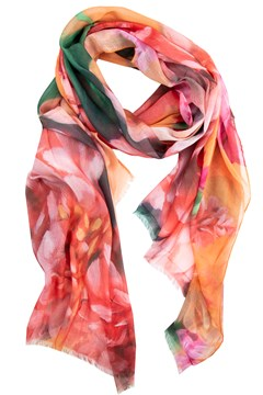Floral Printed Scarf ORANGE 1