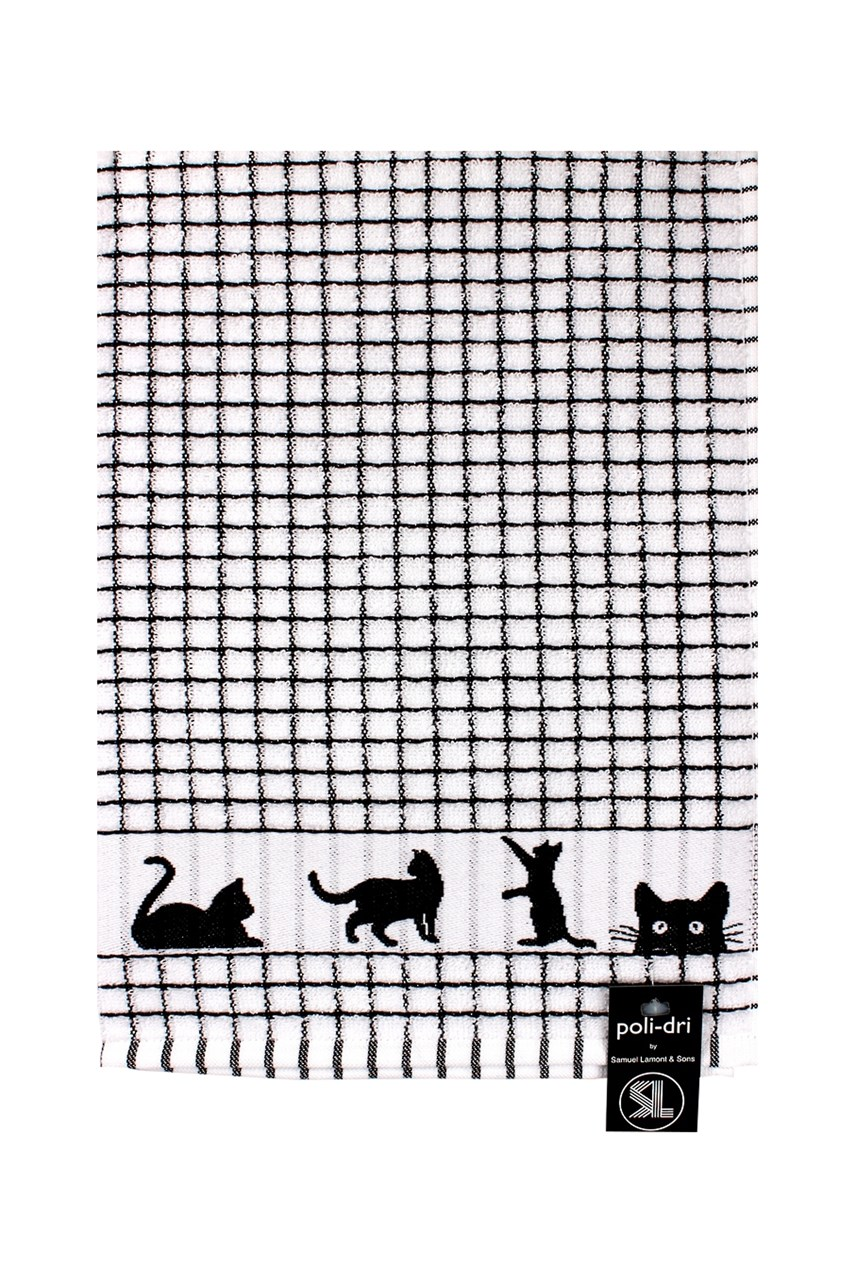 Poli Dri Jacquard Cats Tea Towel