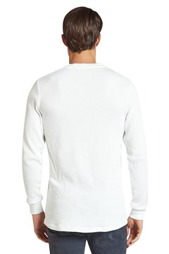 Sycamore Longsleeve Henley - white