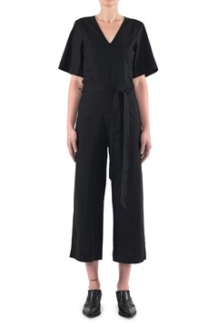 Naomi Wide Leg Jumpsuit 100  BLACK 1