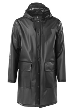 Hooded Coat TRANSPARENT BLK 1
