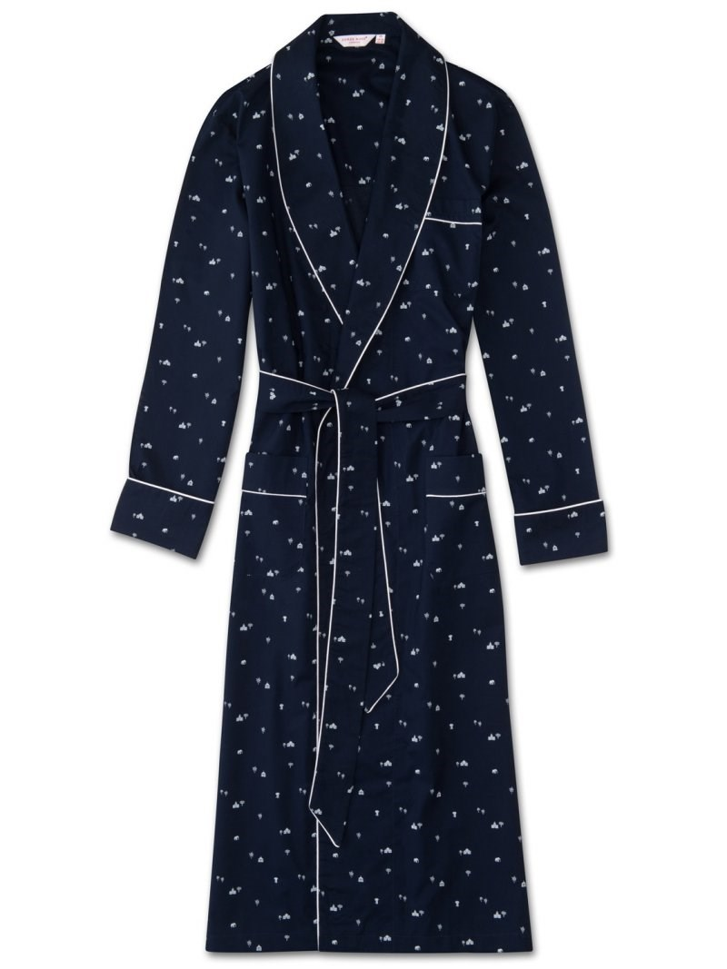 Nelson 62 Piped Dressing Gown