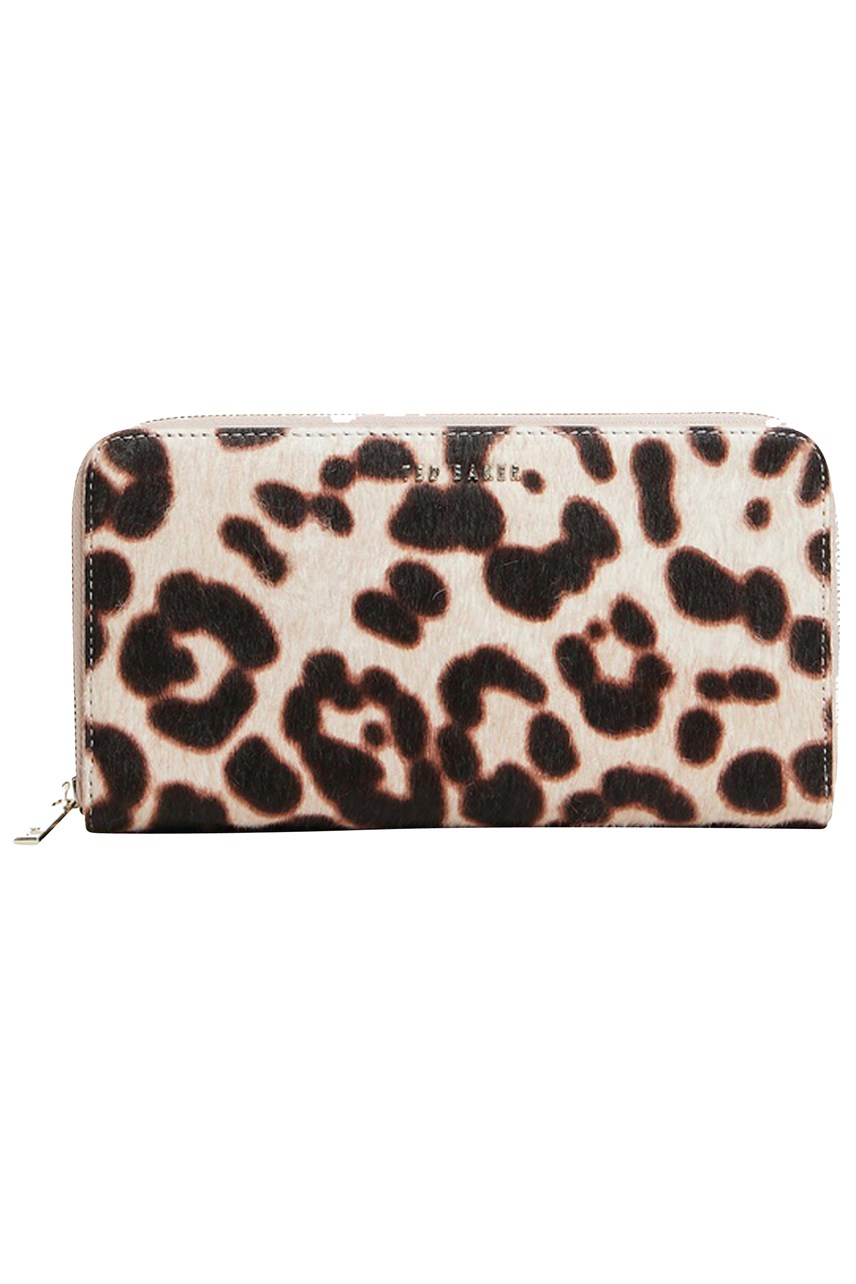 Salomee Leopard Effect Zip Around Wallet