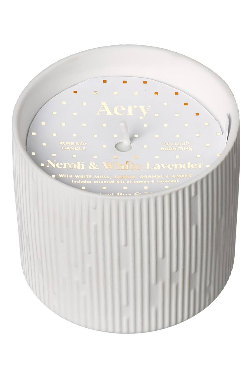 Clay Ceramic Plant Pot Candle - Neroli & White Lavender